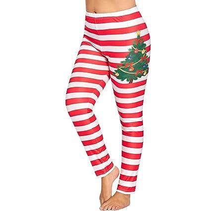 Amazon.com: Franterd Plus Size Chritsmas Yoga Pants Women ...