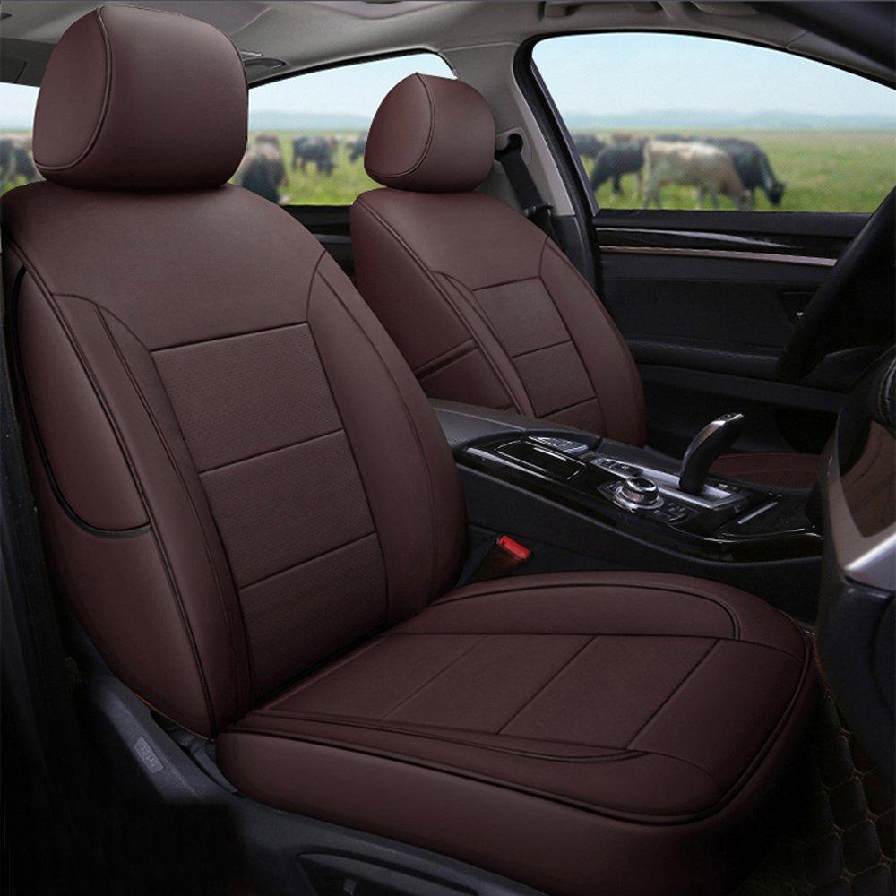 Amazon com: AutoDecorun Genuine Leather & Leatherette Seat