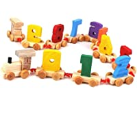 CrazyCrafts Wooden Digital Train Set of Numbers from 0-9 Toy Set for Boy's and Girl's Above 3 Years (Multicolor)