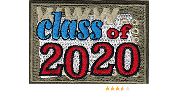 Senior Class of 2020 Graduation Patch Iron-on or Sew-on Applique Embroidered Patch 2021 2022 2023 2024-012