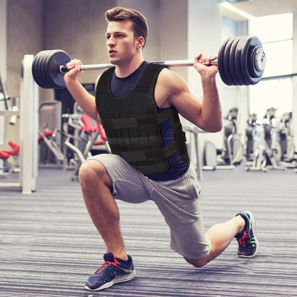 Training Fitness Sport Warnwesten f/ür Gewicht Training Krafttraining /Übung Weste Laufen Joggen Gewichtsweste Verstellbar von 5 kg 10 kg 15 kg Krafttraining Weight Vest mit herausnehmbare Metall Stahlblech