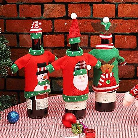 BJ-SHOP Bolsas de Botellas de Vino de Navidad, Regalo ...