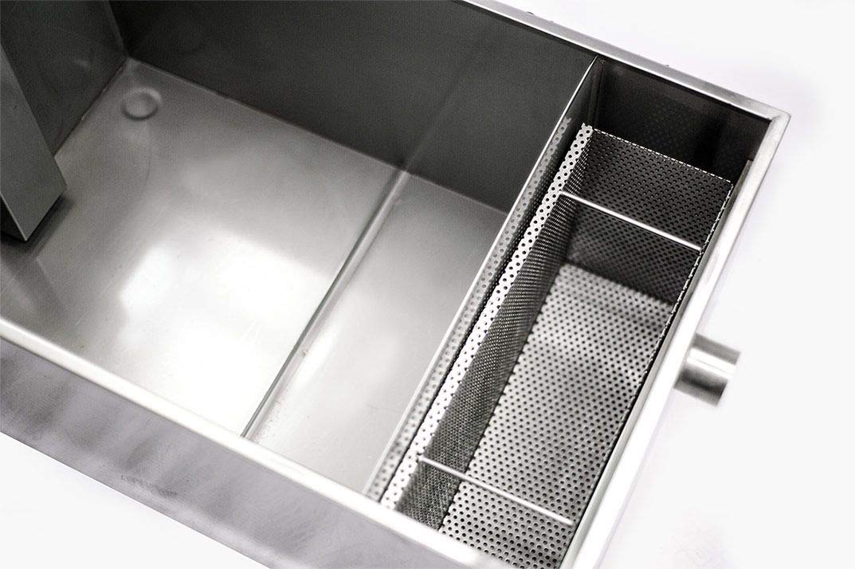 Empire - Trampa de grasa para debajo del fregadero (acero inoxidable, 75 L, 18 kg, capacidad de grasa para cocinas comerciales, restaurantes, comidas): Amazon.es: Industria, empresas y ciencia