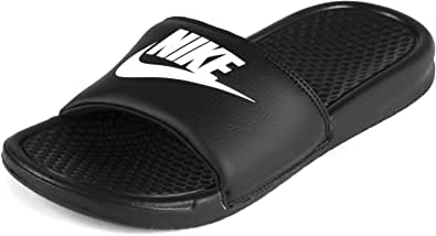 Nike Men's Benassi Just Do It Athletic Sandal, Black/White Black, 11 D US