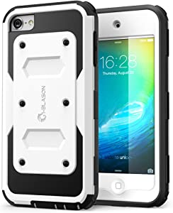 i-Blason Armorbox Case Designed for iPod Touch 7/6/5, Full Body Case with Built-in Screen Protector for Apple iPod Touch 5th/6th/7th Generation, White