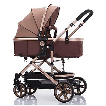 JYY Cochecito Infantil Sistema De Viaje Antirruido De Alta Visibilidad Plegable para Recién Nacidos Silla De Bebé (EVA/Rueda De Goma),A2: Amazon.es: Hogar