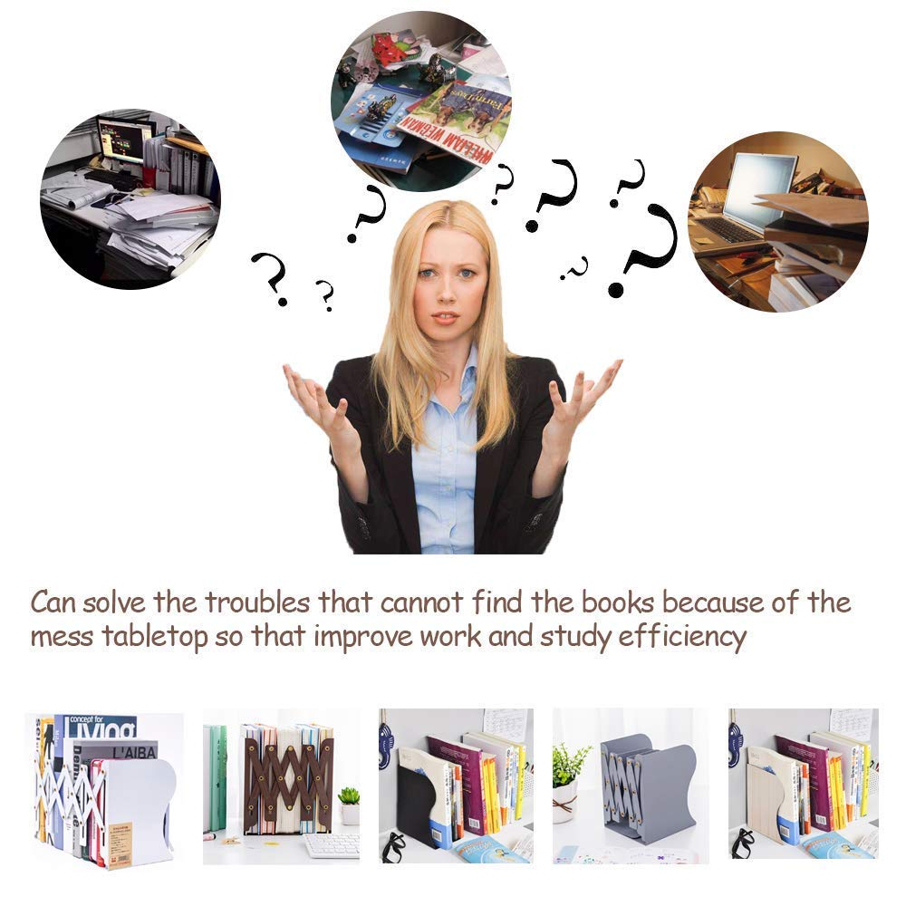 per bambini bianco per la scuola Huisen Furniture resistenti Fermalibri da ufficio in metallo per mensole regolabili