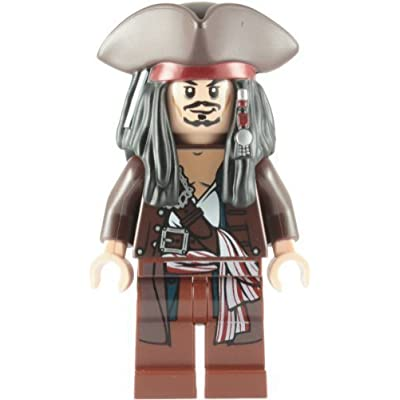 Lego Pirates Of The Caribbean: Captain Jack Sparrow With Tricorne Minifigure: Toys & Games