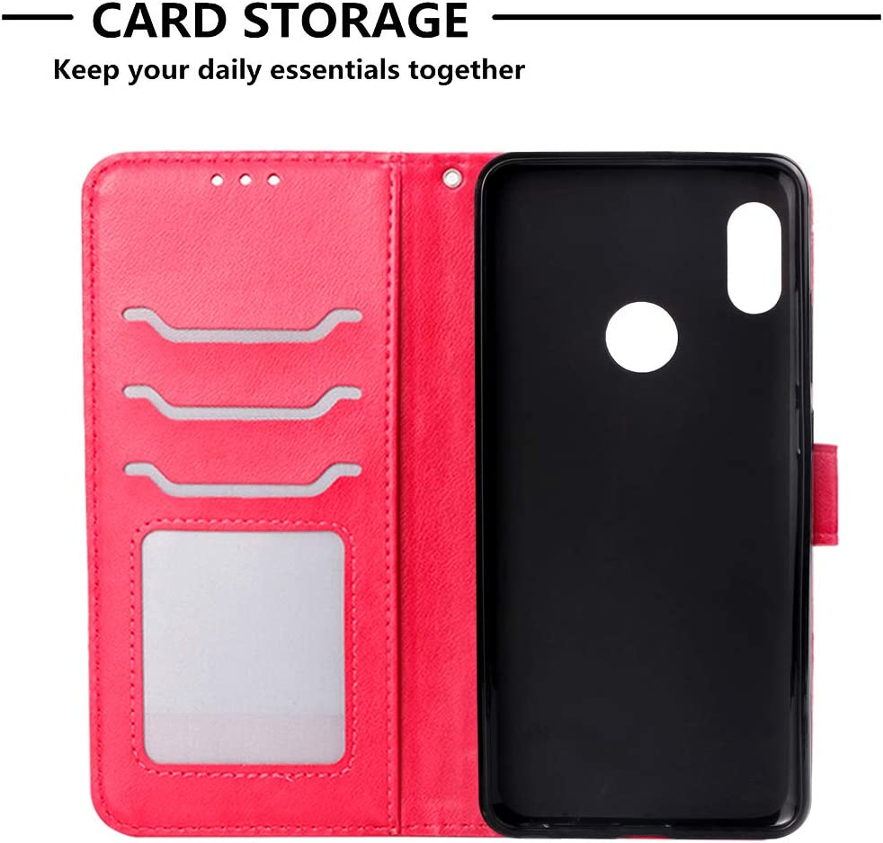 Lomogo Leather Wallet Case for Xiaomi Redmi Note 5 Pro with Stand Feature Card Holder Magnetic Closure Shockproof Flip Case Cover for Xiaomi Redmi Note5 Pro LOYBO470686 Purple