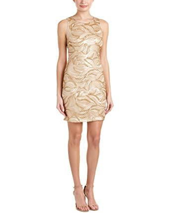 Belle Badgley Mischka Womens Wallis Sleeveless Mini Cocktail