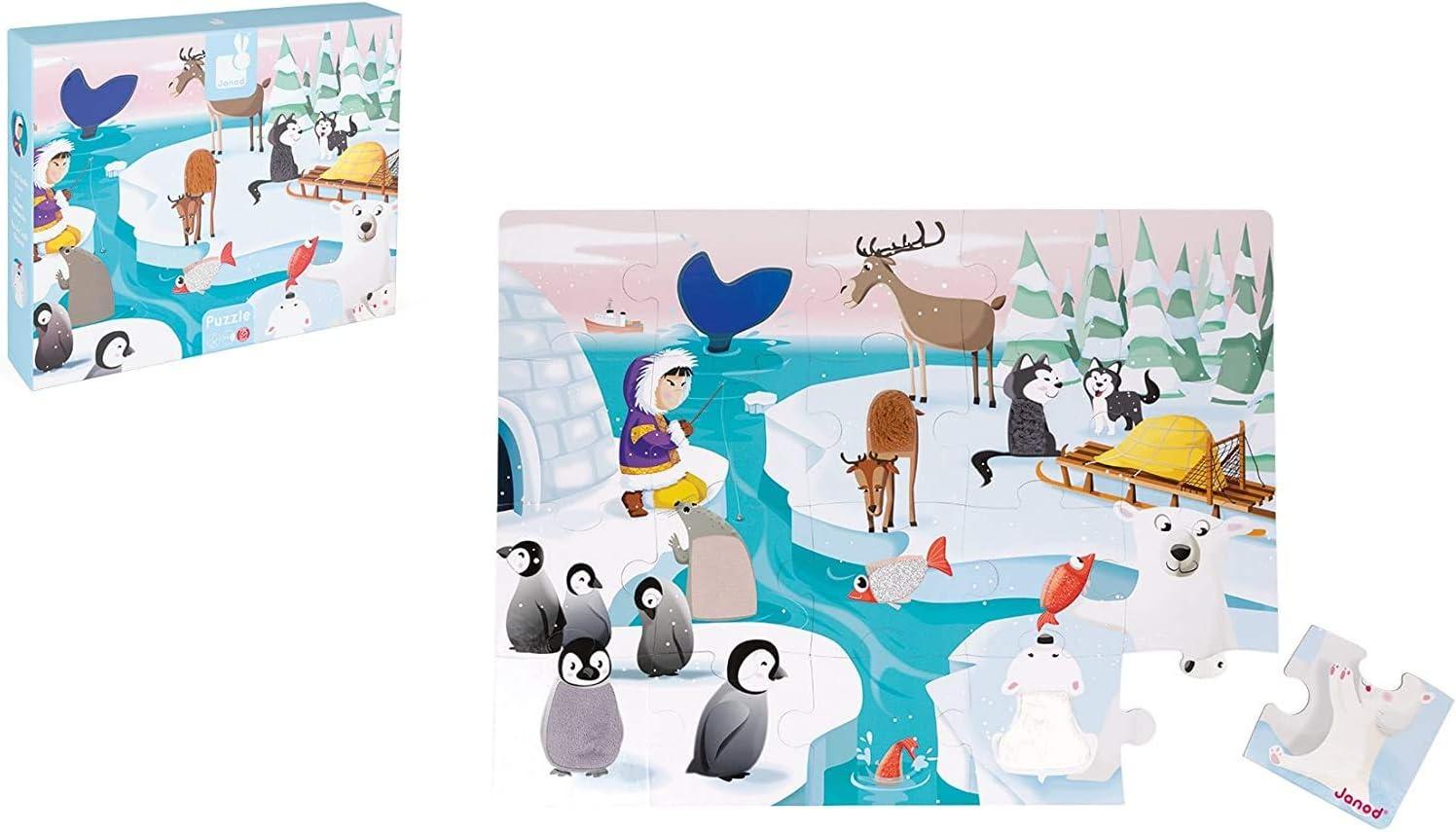 Janod - Puzle Táctil para Niños 20 Piezas - Banquisa - Desde 2 años (J02773): Amazon.es: Juguetes y juegos