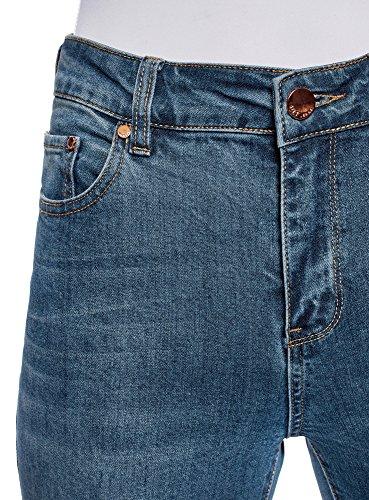 7500w Alta Cintura oodji Azul Ultra Mujer de Vaqueros Slim xwwBZST8q
