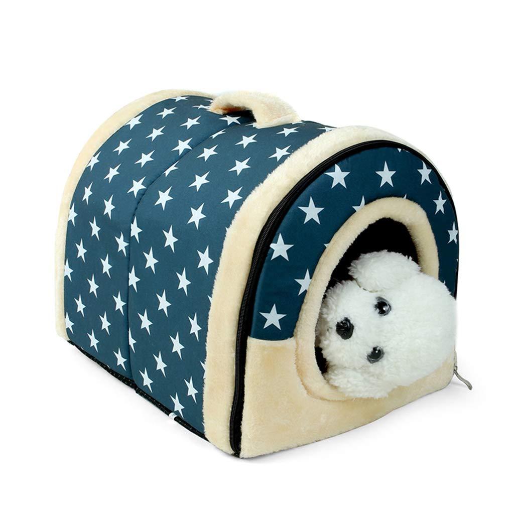 bluee M 453535cm bluee M 453535cm Multifunction Pet Nest, Durable Washable Dog Bed Soft Portable Dog Cushion Dual-Use Pet Nest Removable and Washable Mat Four Seasons Universal,bluee,M 45  35  35cm