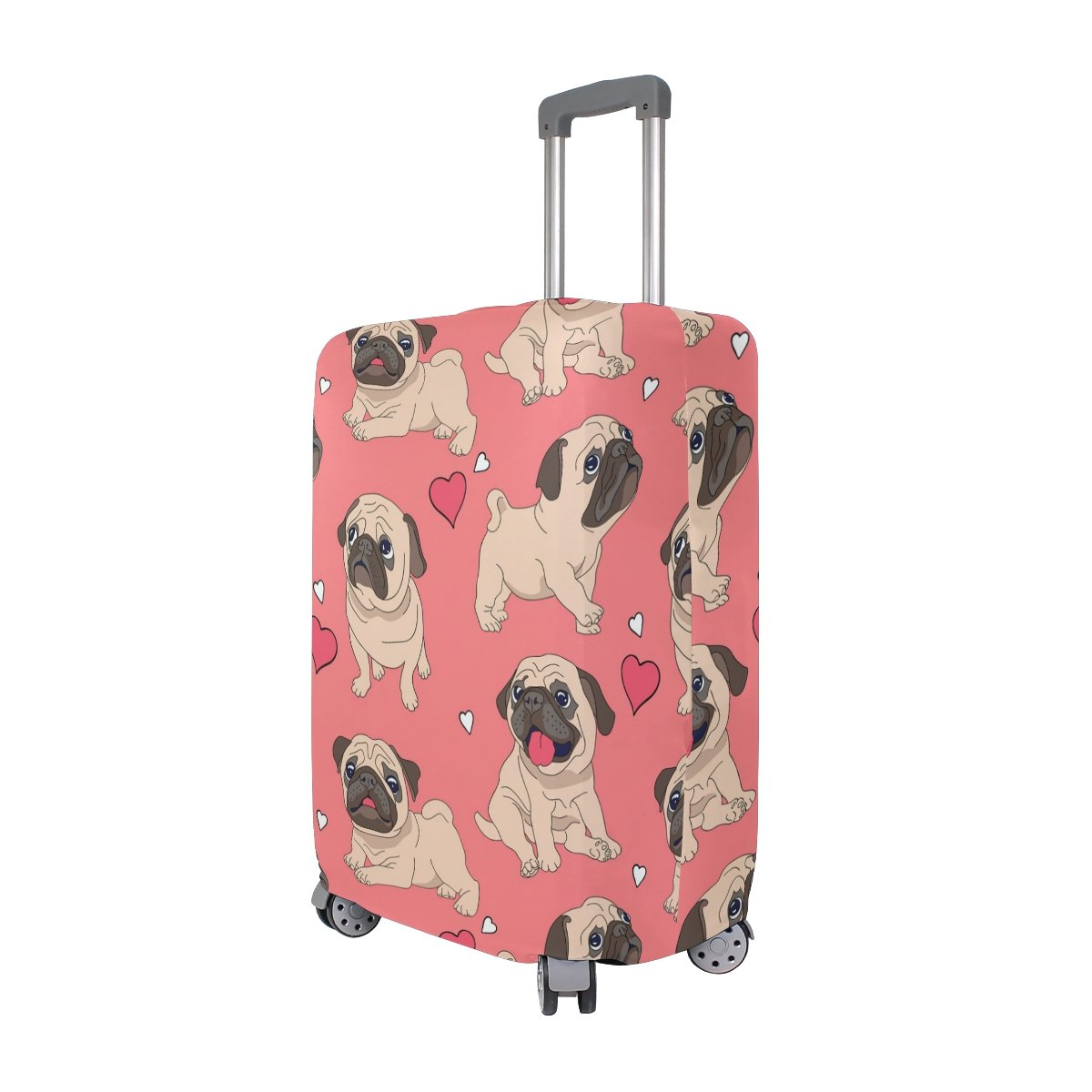 Cute Dog Puppy Love Heart Suitcase Luggage Cover Protector for Travel Kids Men Women by ALAZA (Image #1)