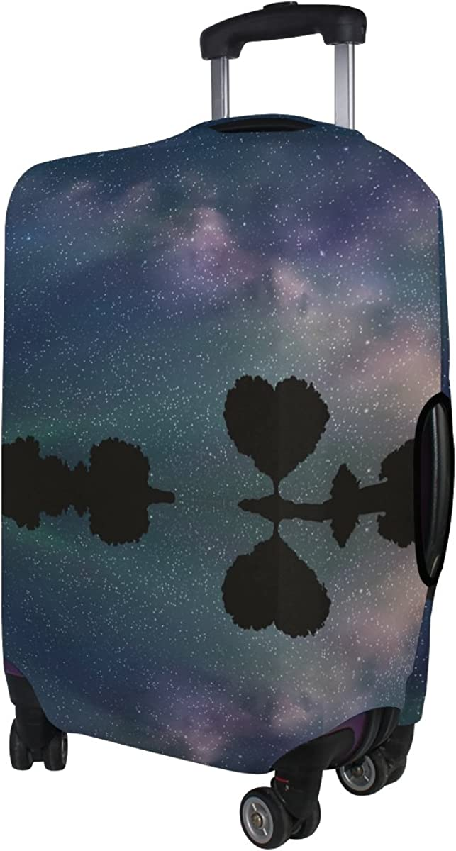 LAVOVO Tree In Shape Of Heart Under Starry Sky Luggage Cover Suitcase Protector Carry On Covers
