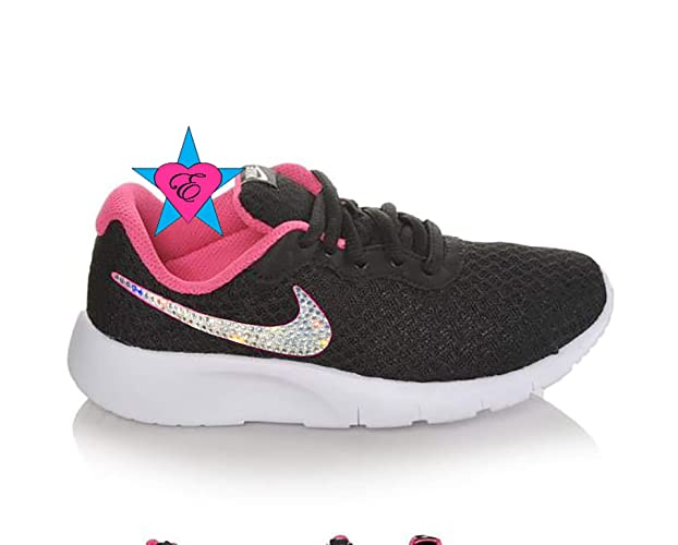 Image Unavailable. Image not available for. Color  Rhinestone Crystal  Bedazzled Girls  Nike Infant Tanjun Sneakers 3552b5ed1c27