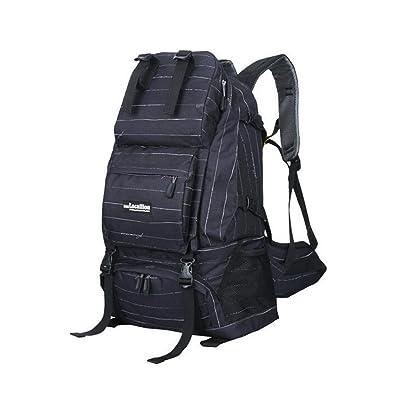 Wmshpeds Voyage en plein air sac d'épaule femme sac de voyage sac à dos alpinisme camouflage mâle 40L assurance