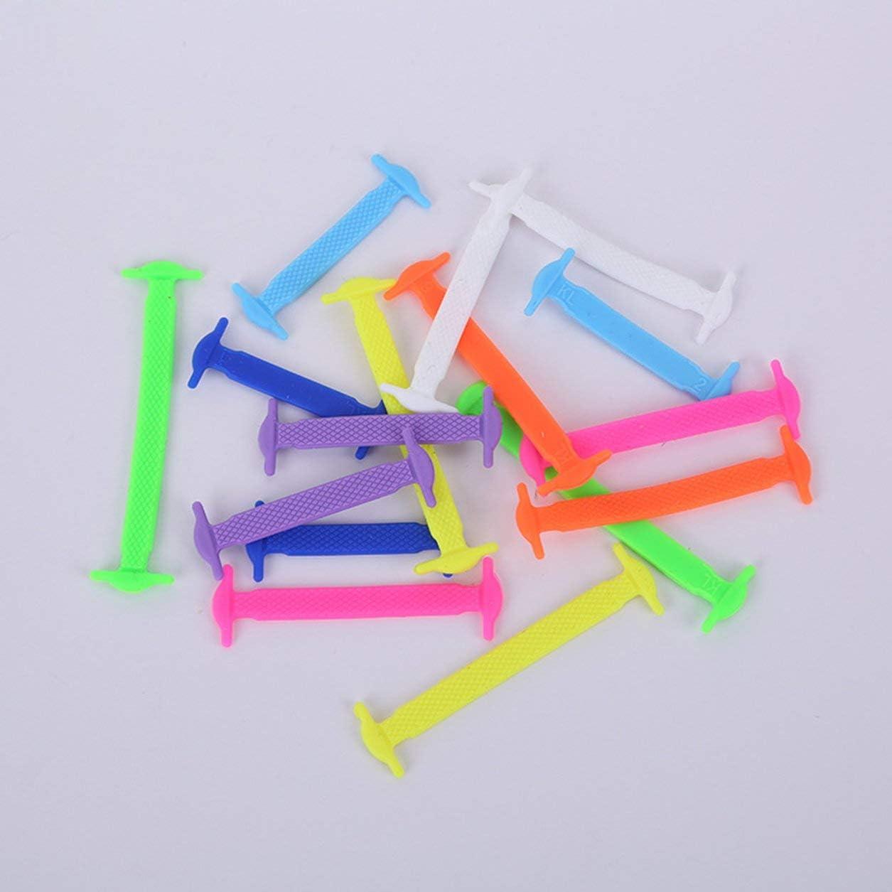 Blanc Kongqiabona-UK Couleur cr/éative Silicone Chaussure Lacet Sangle sans Lavage Lacet Paresseux /élastique Lacet d/écontract/é Silicone Chaussure Lacet
