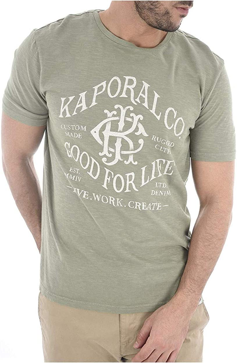 Kaporal Jeans - Camiseta Manga Corta Color Verde Oliva Hombre Kaporal lacko - Verde, S: Amazon.es: Ropa y accesorios