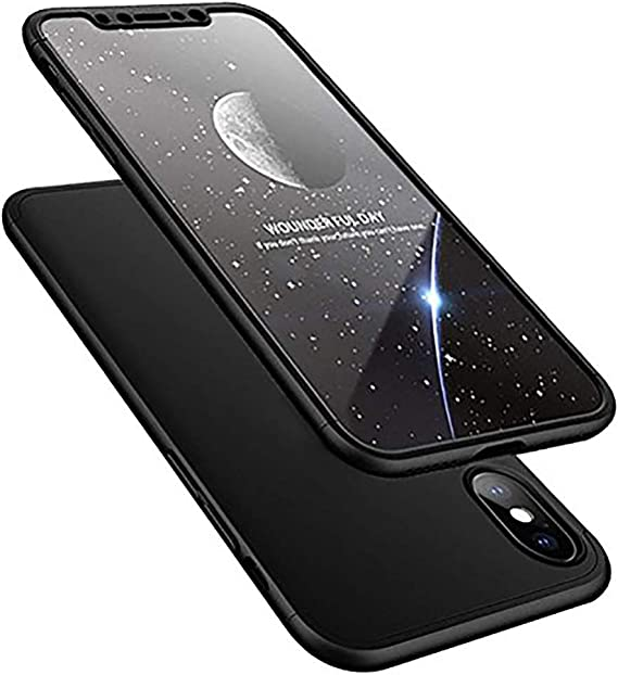 iPhone X 10 Case HONTECH 3 in 1 Ultra-Thin PC Hard Cover 360 Degree Protection for Apple iPhoneX 10 Gold