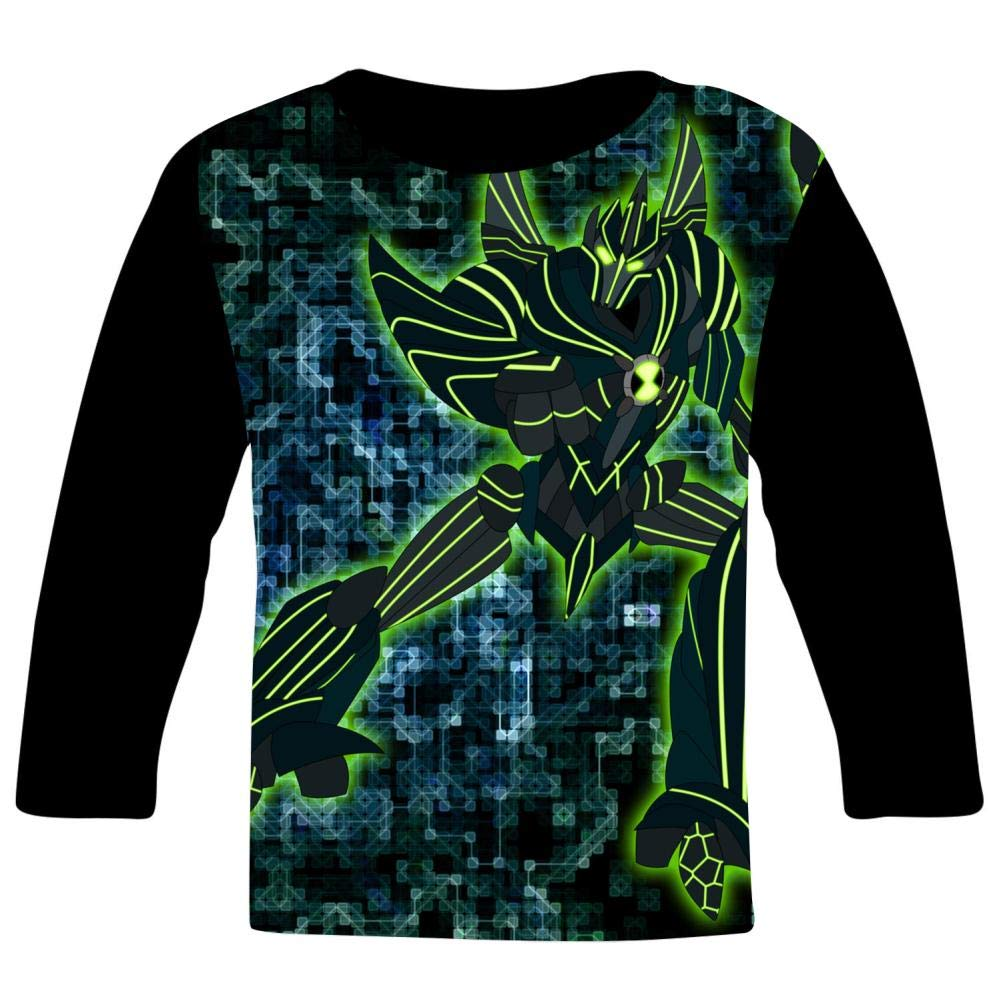 Ben-10 Ultimate Starfighter Kids T-Shirts Long Sleeve Tees Fashion Tops for Boys//Girls