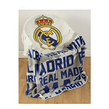 Amazon Real Madrid FC Impact Fleece Blanket Throw Latest Fascinating Real Madrid Throw Blanket