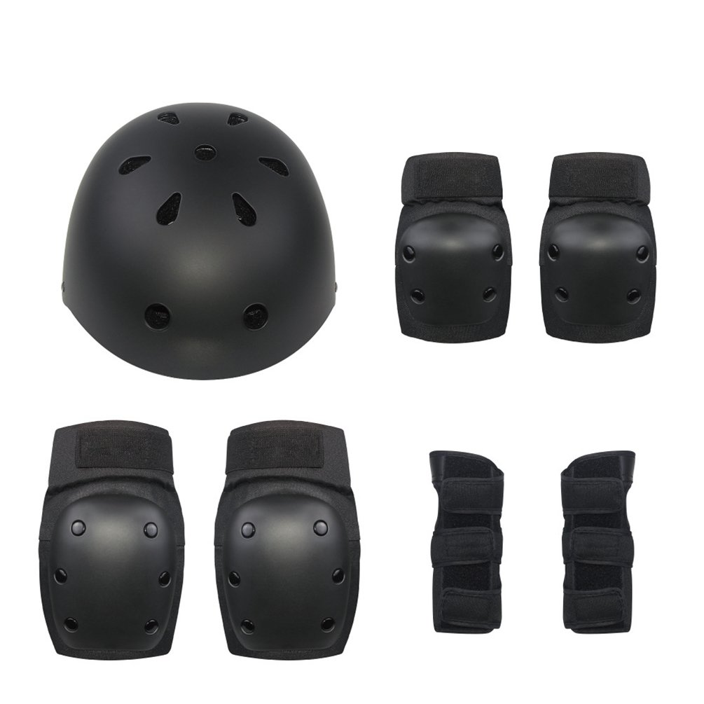 HOBULL Kids Youth Adjustable Sports Protective Gear Set Knee Pads Elbow Pads Wrist Guards 7Pcs