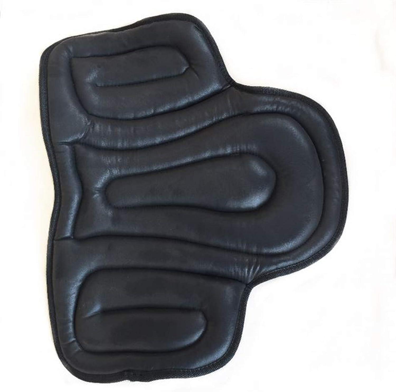 ZQZQMR Almohadilla de Silla de Montar Inglesa, Almohadilla de Montar de absorción de Golpes espesos, Suministros ecuestres, utilizados para Proteger los Caballos Black