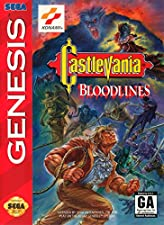 Castlevania Bloodlines (Sega Genesis / Mega Drive) - Reproduction Video Game Cartridge with Clamshell Case and Manual