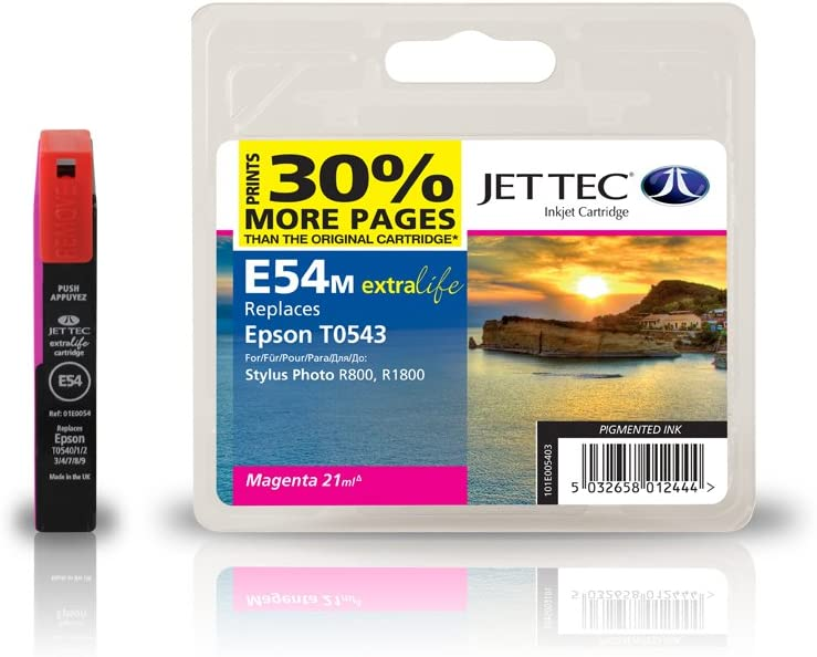 JET TEC Tinte für EPSON Stylus Photo R800/R1800, magenta ...
