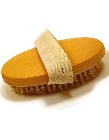 Glamza - Cepillo profesional para la piel seca con cerdas de cactus, masajeador de cuerpo