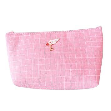3e5d468754 Chic Sweet Flamingo Unicorn Stripe Canvas Pencil Case Zipper Pen Storage Cosmetic  Pouch Makeup Bag Students