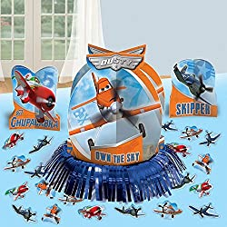 """Amscan DisneyPlanes 2 Birthday Party Assorted Table Decorating Kit (23 Pack), 12 3/5"""", Blue/Orange"""