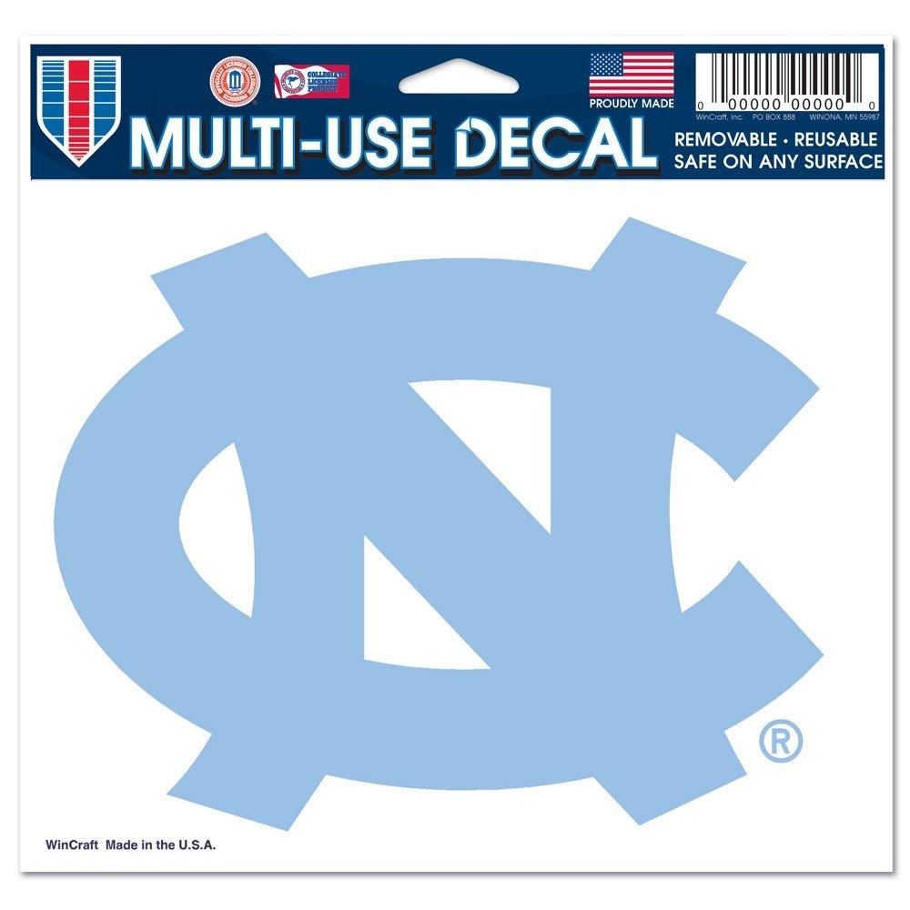 North Carolina Tar Heels Official NCAA 4.5 inch x 6 inch Car Window Cling Decal by Wincraft