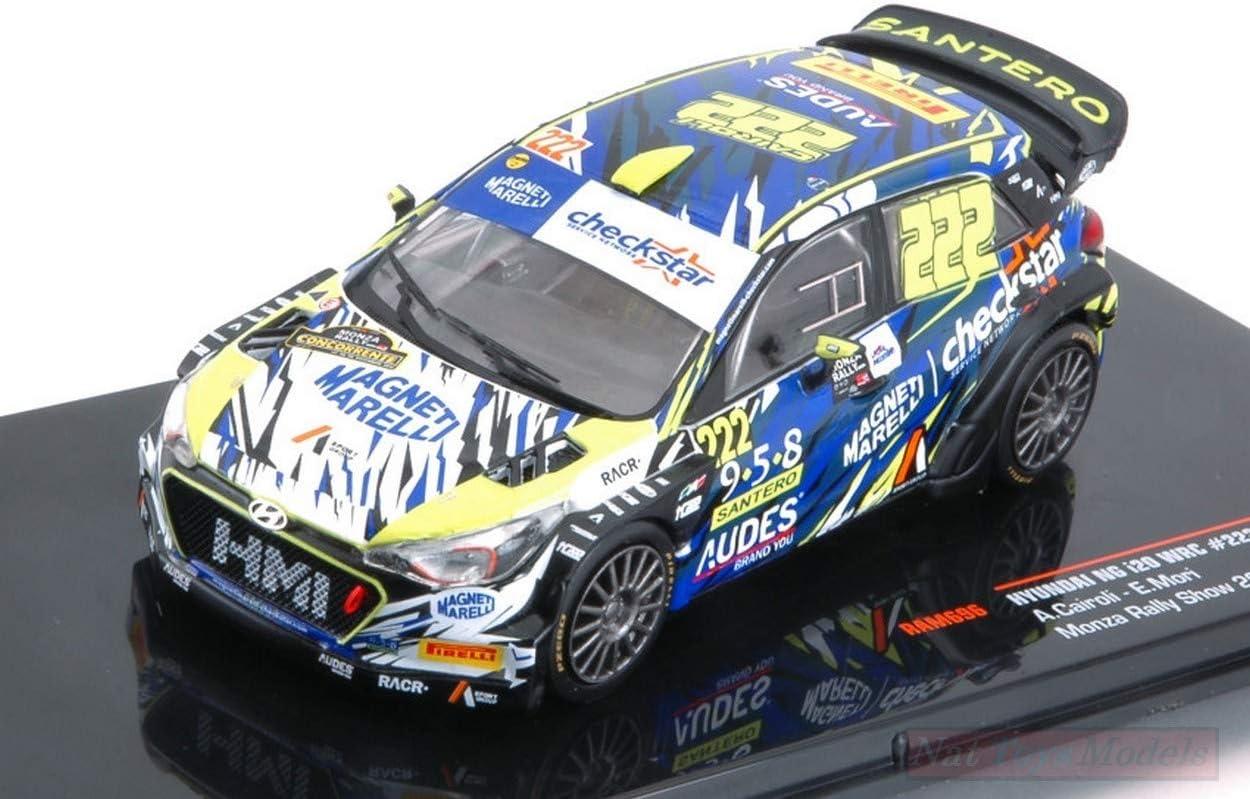IXO Model RAM696 Hyundai NG i20 WRC N.222 5th Rally Monza 2018 CAIROLI-Mori 1:43