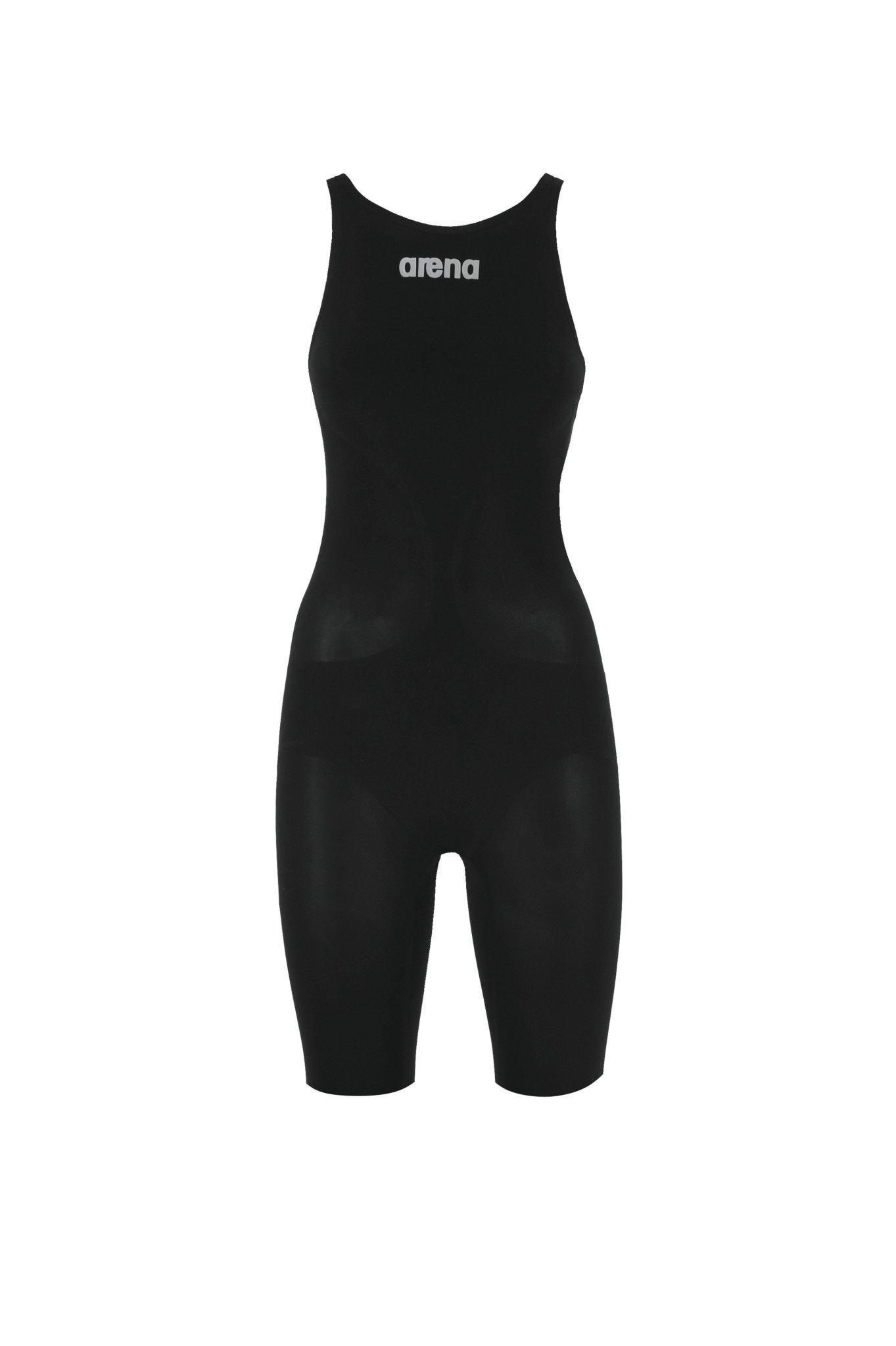 Arena Women's Race Powerskin R-EVO+ FBSL Open Back Swimsuit (Black, 26)