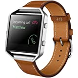 OVERMAL Luxury Genuine Leather Watch band Wrist strap For Fitbit Blaze Smart Watch