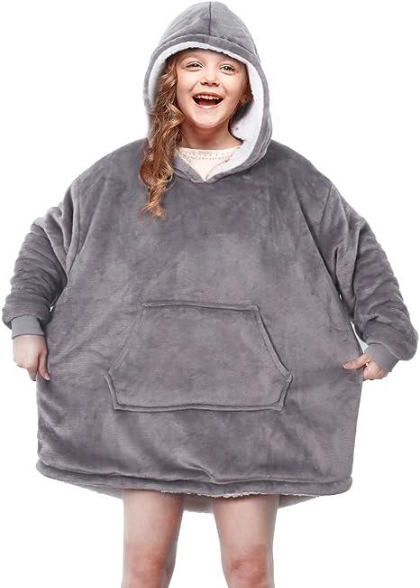Hoodie Blanket Plush Ultra Soft Plush Throw Blanket Boys//Girl Cloak Wearable Blankets Hooded Throw Wrap Hockey 50x40 inch