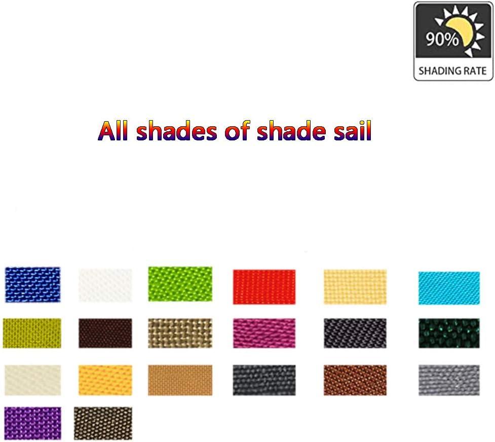 BXY Tenda A Vela, Tende da Sole Impermeabile, Protezione Raggi 90% UV Vela Parasole Ombreggiante, Adatto per Esterni, Terrazza, Giardino, Prato (2.5X3M),O S