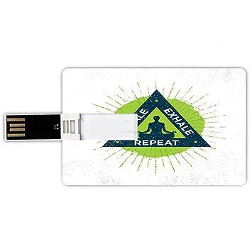 8GB Forma de tarjeta de crédito de unidades flash USB Inhala ...