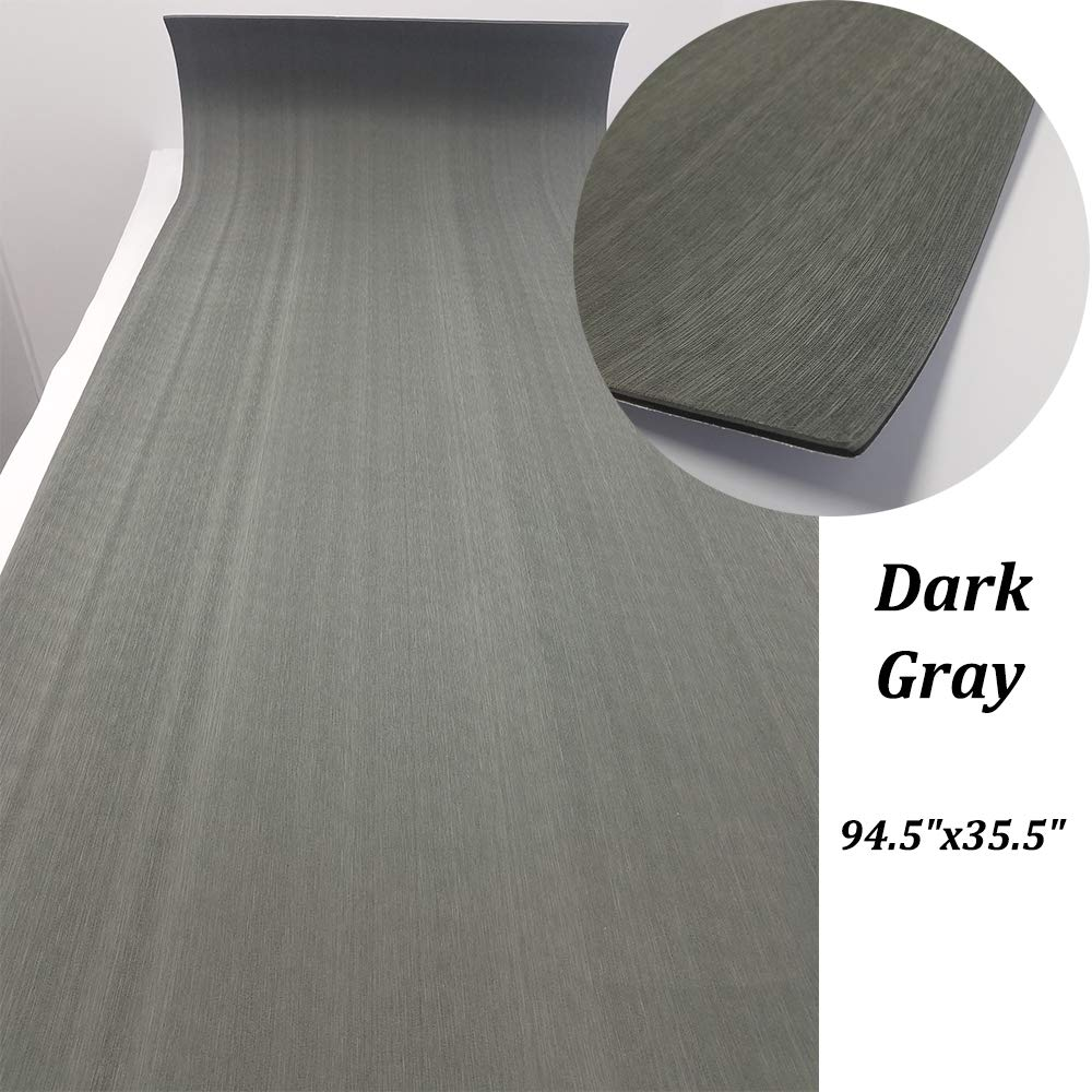 Deck sheet eva boat mat flooring synthetic faux teak uv resistant carpet pad non slip yacht marine 94 5x35 dark gray brushed amazon ca sports outdoors