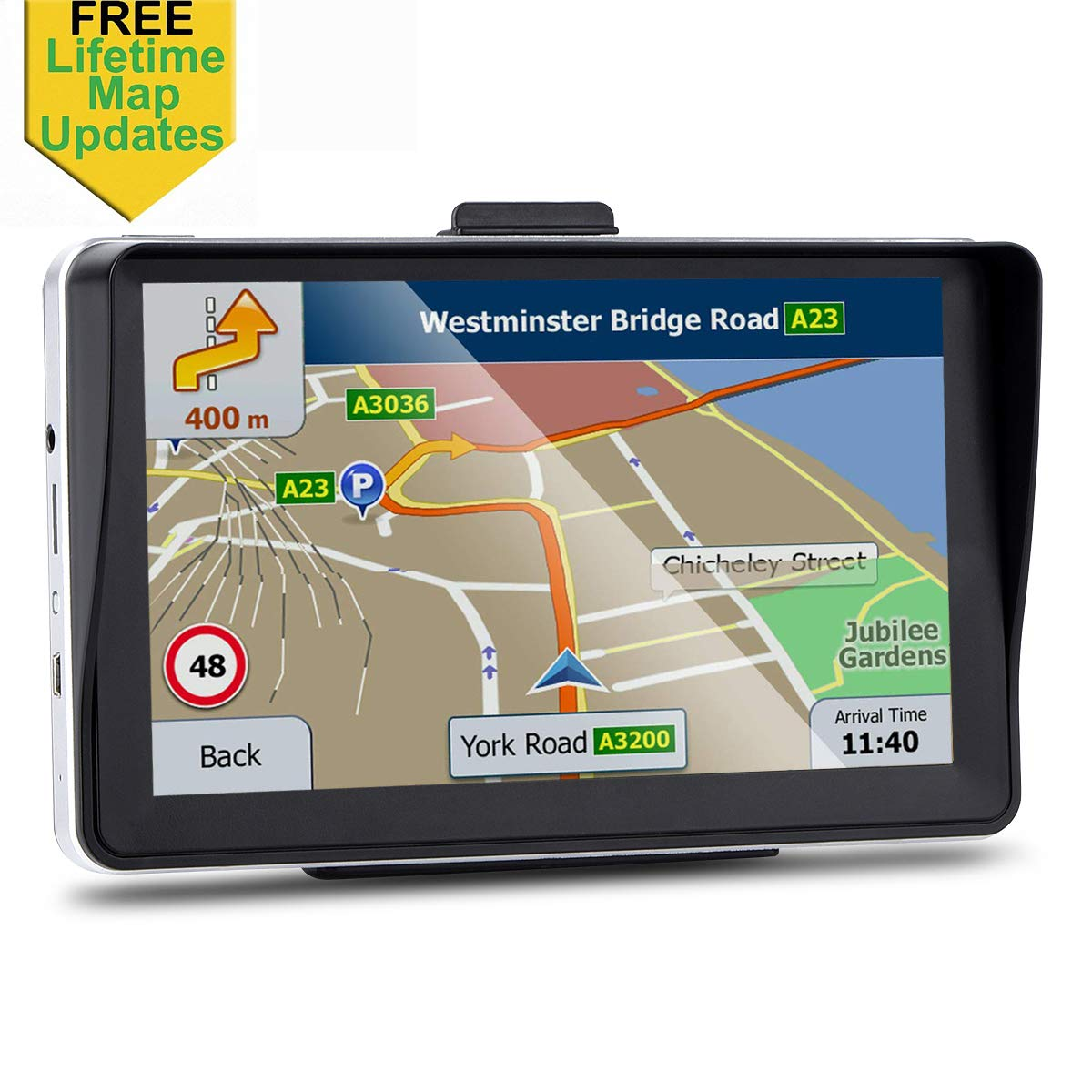 Real Voice Turn-to-turn Alert Sat-Nav Lifetime Map Updates Car GPS 7-inch Portable Navigation System for Cars