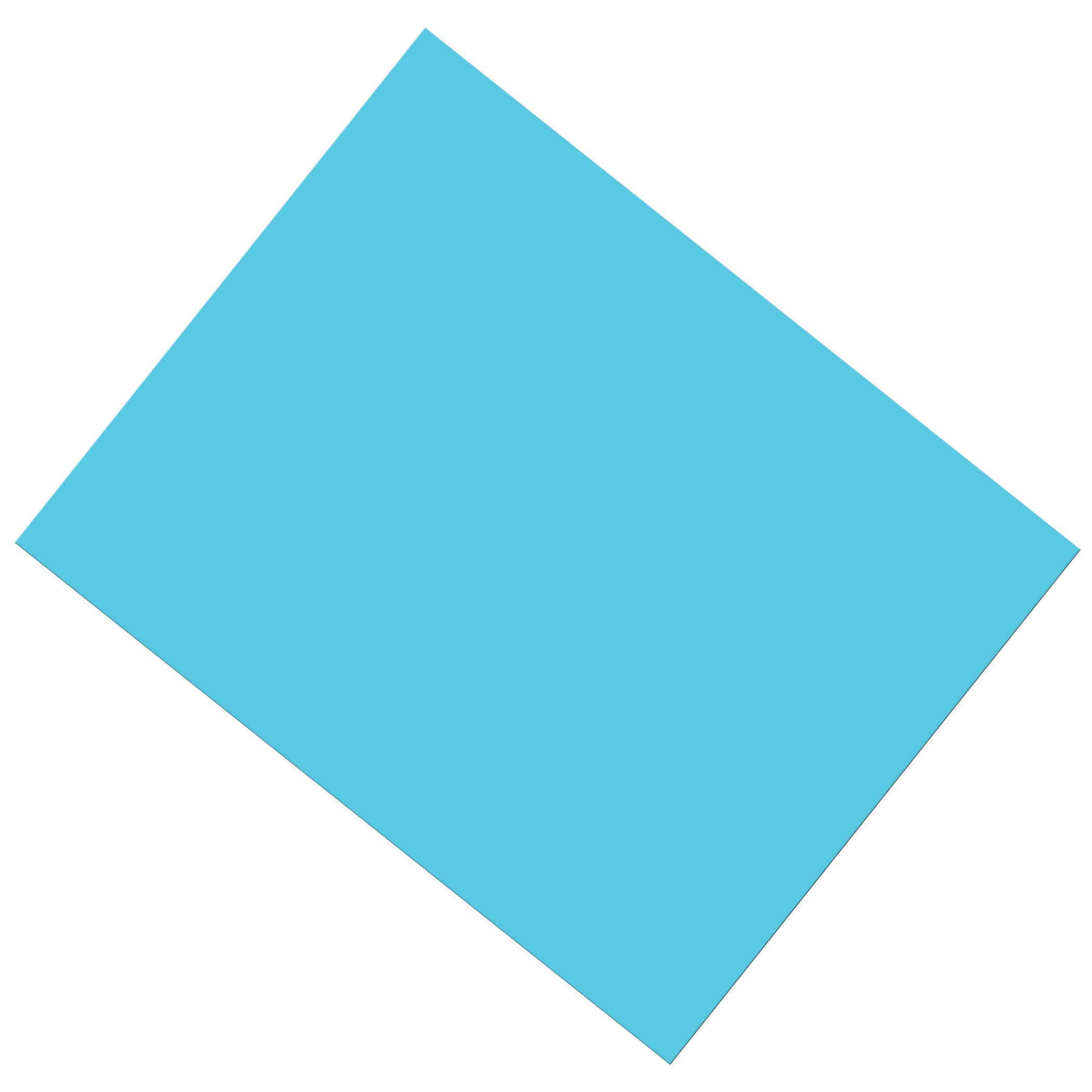 Pacon PAC53871 Coated Poster Board, Light Blue, 22'' x 28'', 25 Sheets