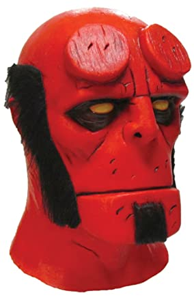 hellboy superhero deluxe latex party adult fancy halloween costume mask