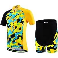 LSERVER-Niños Maillot de Bicicleta Ropa de Ciclo Camiseta/Pantalones/Conjunto