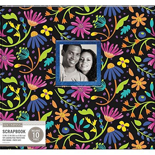 (K & Company KAC749429 Scrapbook 12x12 Black Floral)