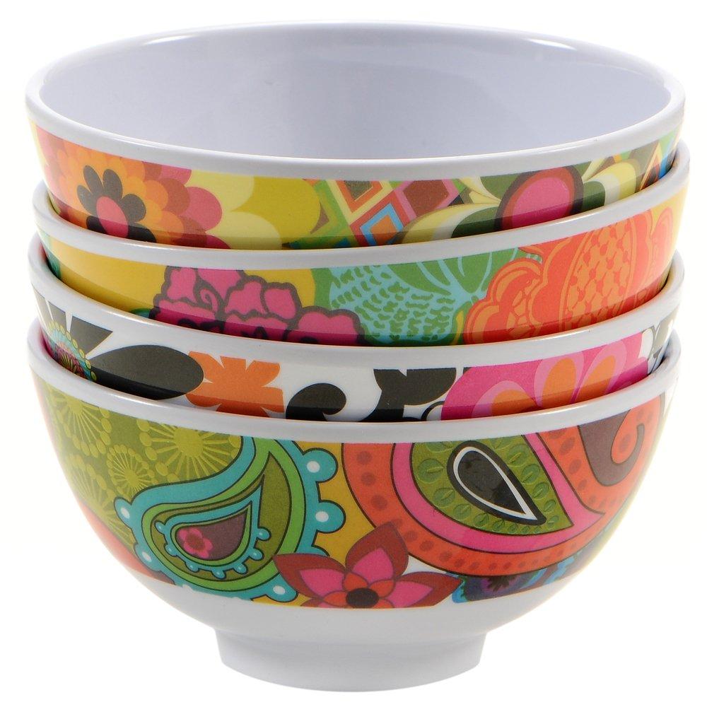 French Bull 4'' Mini Bowl Set of 4 - Melamine Dinnerware - Small, Kids, Pasta - Floral