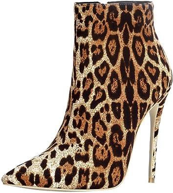 Stilettos Leopard Print Booties