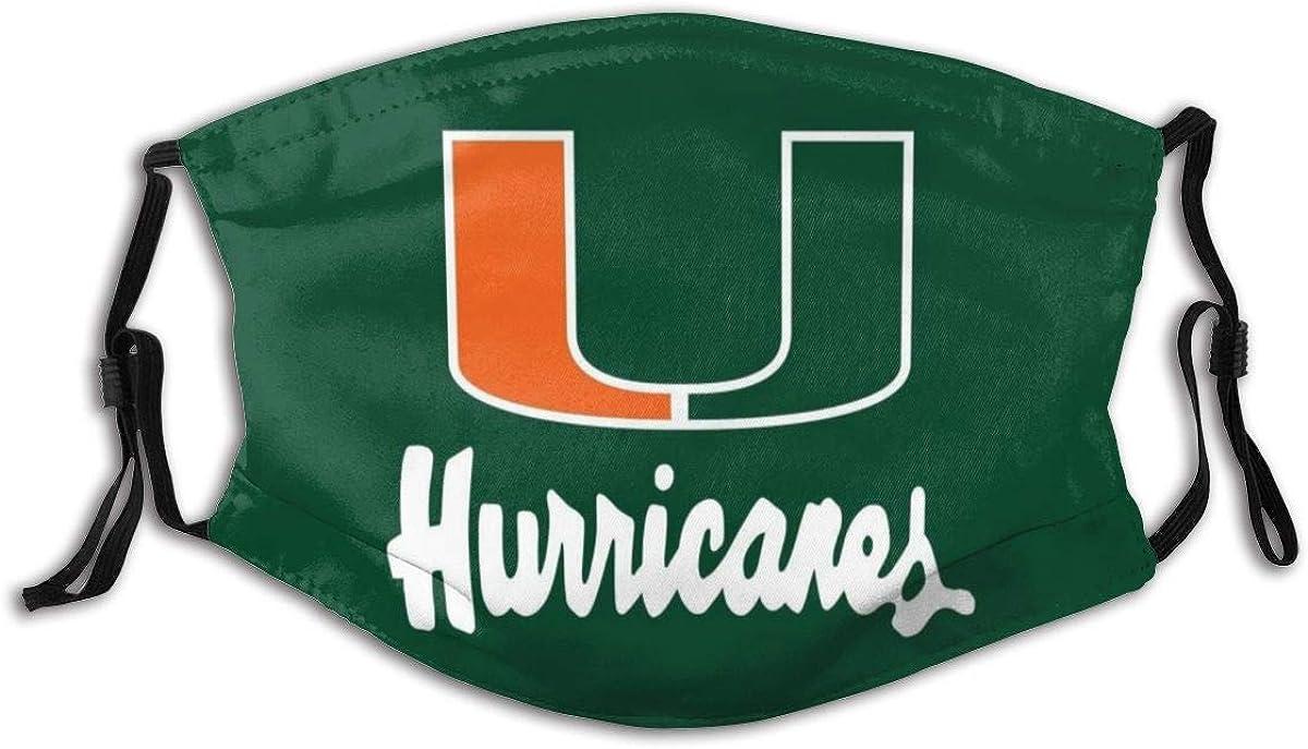 Miami Hurricanes -7 Face Cover Mask Balaclava with Elastic Strap