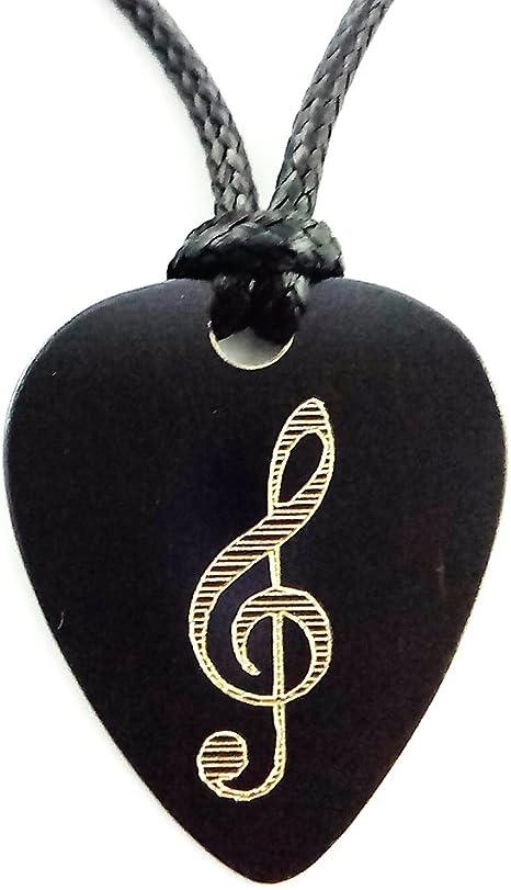 Colgante Púa Guitarra Metal Brass Vintage Diseño Clave de Sol ...